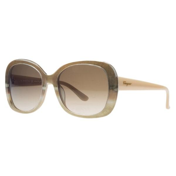 Salvatore Ferragamo SF678/S 269 Nude Beige Square Sunglasses - nude beige