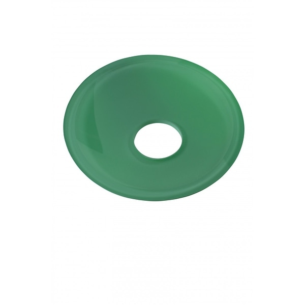 Replacement Waterfall Faucet Green Glass Disc Tray Plate | Renovator's Supply