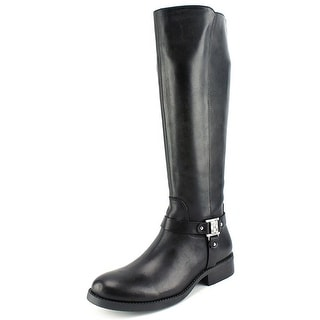 Vince Camuto Farren Women Round Toe Leather Black Knee High Boot