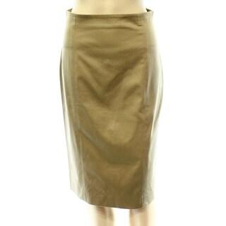 Polo Ralph Lauren NEW Beige Military Women's 2 Straight Pencil Skirt