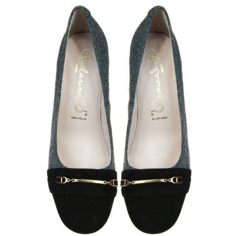 Bailarinas ALTEO GG Grey/Black Flannel Chunky Heel Pump