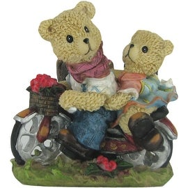 Teddy Bears Riding a Bicycle Decorative Planter