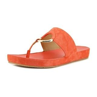 Calvin Klein Mali   Open Toe Suede  Thong Sandal
