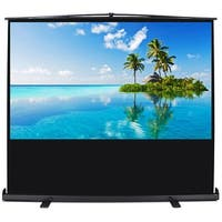 """Arksen 60"""" Portable Home Theater Pull Up Projector Screen Projection Mobile Professional Screen 4:3 Format"""