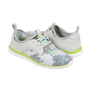 Cushe Shakra Womens Grey Green Textile Lace Up Sneakers Shoes