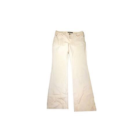 Lauren Ralph Lauren Pearl Coated Straight Jeans