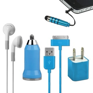 DigiCom 5 in 1 Travel Kit for Apple iPhone/iTouch (Blue)