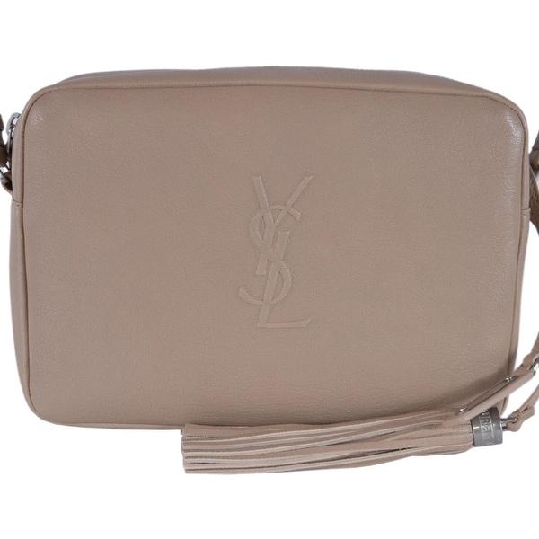 64f87d83550 Shop Saint Laurent YSL 470299 LOU Taupe Leather Bag Crossbody Purse ...