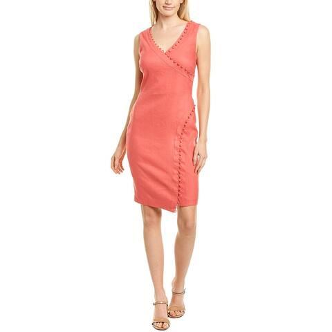 Nicole Miller Linen-Blend Dress