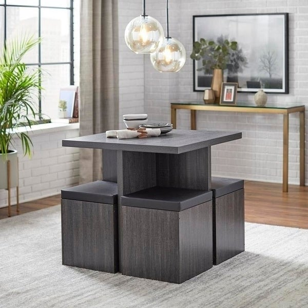 Simple Living Baxter Dining Set with Storage Ottomans. Opens flyout.