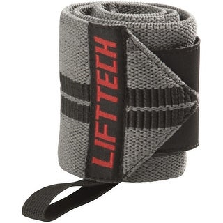 Link to Lift Tech Fitness Comp Thumb Loop Weight Lifting Wrist Wraps - Gray - 18 in. Similar Items in Fitness & Exercise Equipment