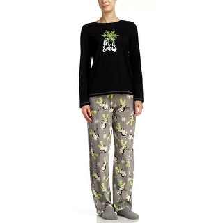 Hue Sleepwear Women's Let It Snow 3-Piece Pajama Set