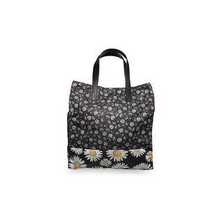 Marc Jacobs Womens Polyester Byot Daisy Flower Tote Bag Black - M