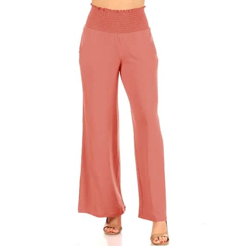 Casual Full Length High Waist Solid Lounge Pants