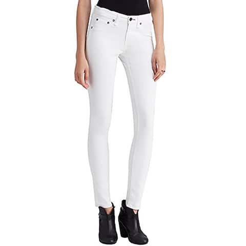 Rag and Bone Womens White Capri Jeans, Coated White (25)