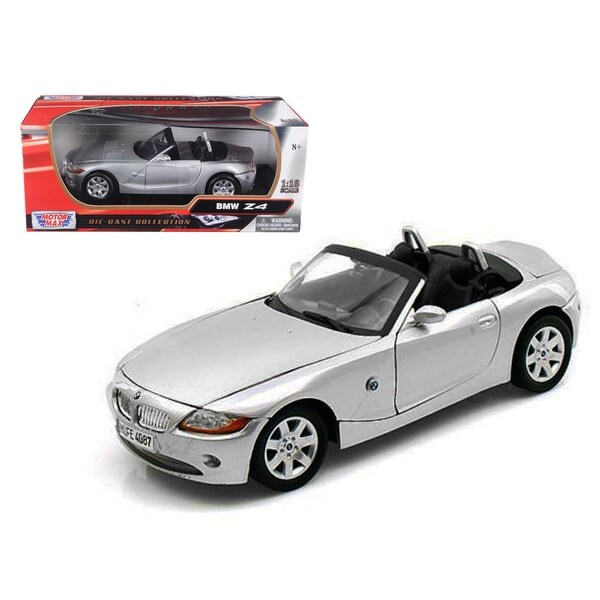 Bmw Z4 Convertible Sports Car: Shop BMW Z4 Convertible Silver 1/18 Diecast Model Car By