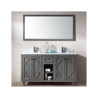 """Miseno MV-SPA60 Spazio 60"""" Free Standing Vanity with Vanity Top and Undermount Sink (2 options available)"""
