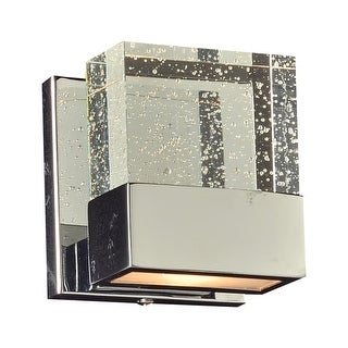 """PLC Lighting 1651 1 Light 5"""" Wide Wall Sconce from the Regis Collection - Silver"""