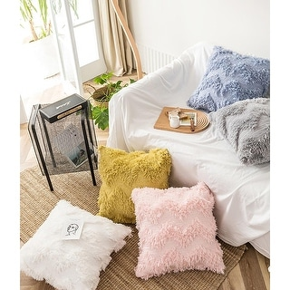 Link to Handmade Knit Tassel Solid Velvet Embroidered Decor Pillowcase Similar Items in Decorative Accessories