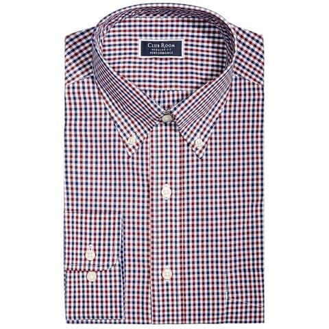Club Room Mens Regular Fit Performance Button Up Dress Shirt