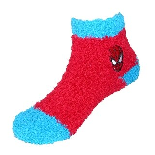 Marvel Toddler Superhero Spiderman Slipper Socks (3 Pair Pack)