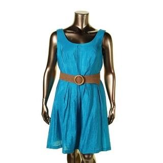 Nine West Womens Casual Dress Pleated Sleeveless