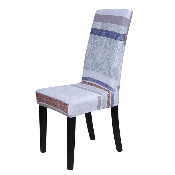 Shop Floral Print Spandex Chair Covers Fit Home Dining ...