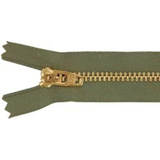 Army Green - Jean Zipper 7""
