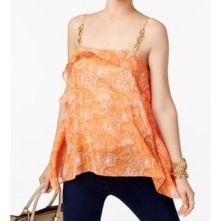 MICHAEL Michael Kors NEW Orange Women's Size Small S Paisley Cami Top