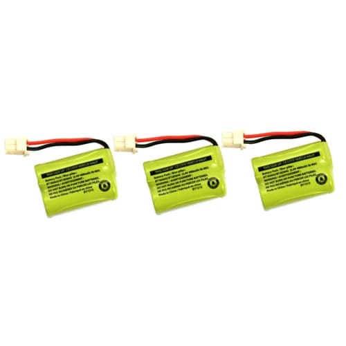 Replacement 89-1356-01 NiMH Cordless Phone Battery - 400mAh / 2.4v (3 Pack)
