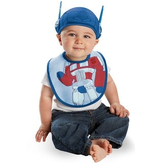 Disguise Transformers Optimus Bib and Hat Infant Costume - Blue - 0-6 months