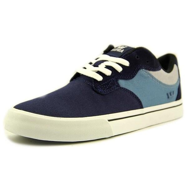 Supra Axle Men Round Toe Canvas Blue Skate Shoe