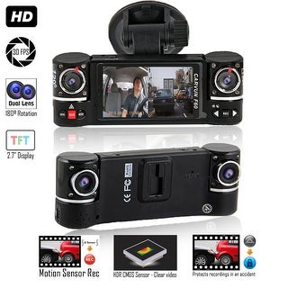 "Indigi NEW 2017 2.7"" LCD Wide Angle Dash Cam DVR + 2.7"" LCD + Motion Detect"