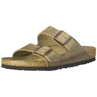 Birkenstock Mens Arizona Waxy Leather Cork Slide Sandals - 13 narrow (c)