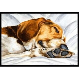 Carolines Treasures AMB1076JMAT Beagle Bliss Indoor or Outdoor Mat 24 x 36