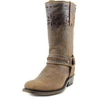 Matisse Loco Square Toe Leather Mid Calf Boot
