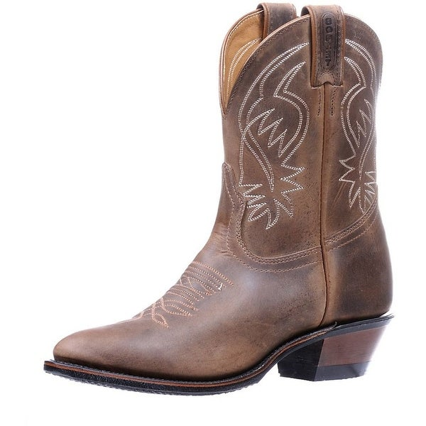 Boulet Western Boots Womens Leather Cowboy Rider Hillbilly Golden