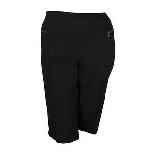 Style & Co. Women's Pull-on Zipper-Pocket Skimmer Pants - Deep Black
