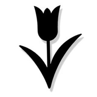 Village Wrought Iron MMB-MAG-98 Tulip Magnet - Black