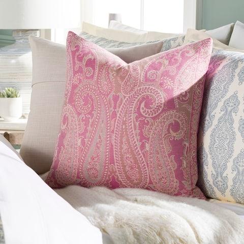 Sima Traditional Paisley Jacquard 20-inch Throw Pillow