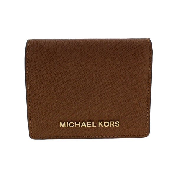 87d56dd5cded Shop Michael Kors Womens Jet Set Traveler Wallet Leather Bifold ...
