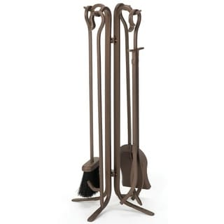 """Woodfield 61226 28"""" Tall Bronze 4 Piece Tool Set with Crook Handles"""