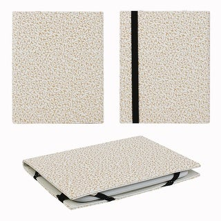 """JAVOedge Embossed Golden Ivy 6"""" Universal eReader Book Case for the Nook Touch, Glowlight, Kobo, Touch, Kindle (White)"""