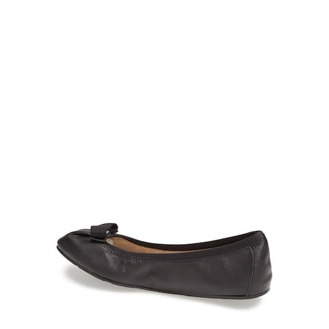 Salvatore Ferragamo Womens My Joy Leather Almond Toe Ballet Flats