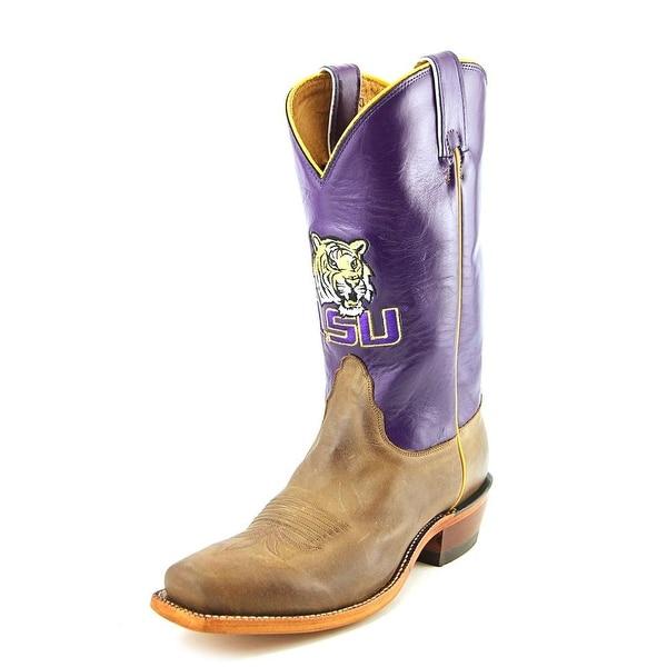 Nocona LSU Vintage Women Round Toe Leather Tan Western Boot