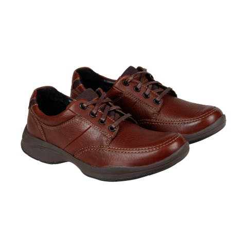 Clarks WaveKorey Mix Brown Leather Mens Lifestyle Sneakers