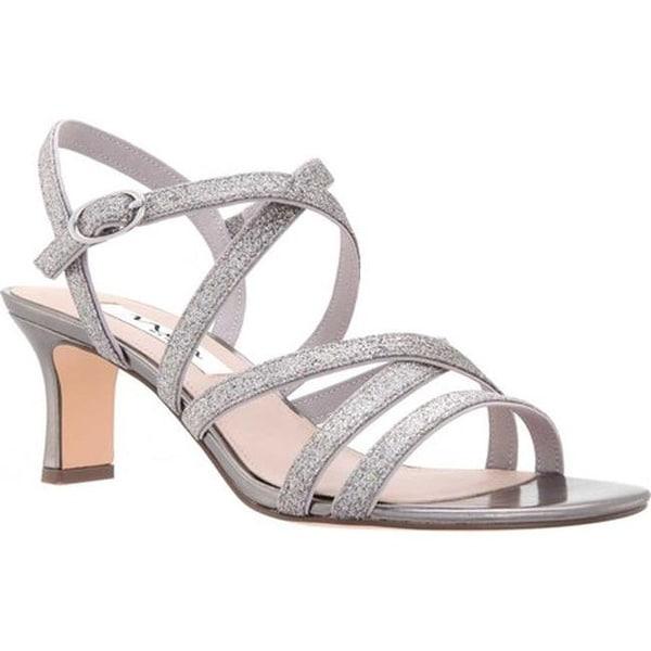 8809863a888 Shop Nina Women s Genaya Strappy Sandal Stone Glitter Fabric - On ...