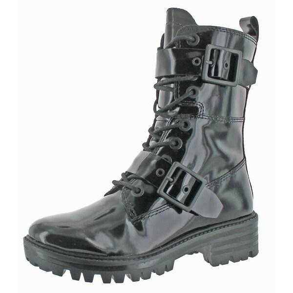 Kendall + Kylie Eliya Women's Leather Combat Boot