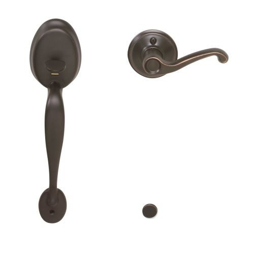 Schlage FE285-PLY-FLA-LH Plymouth Lower Handleset for Electronic Keypad with Flair Interior Left Handed Lever