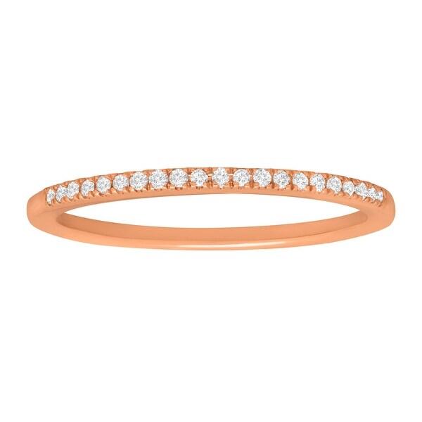 1/10 ct Diamond Slim Band Ring in 10K Rose Gold